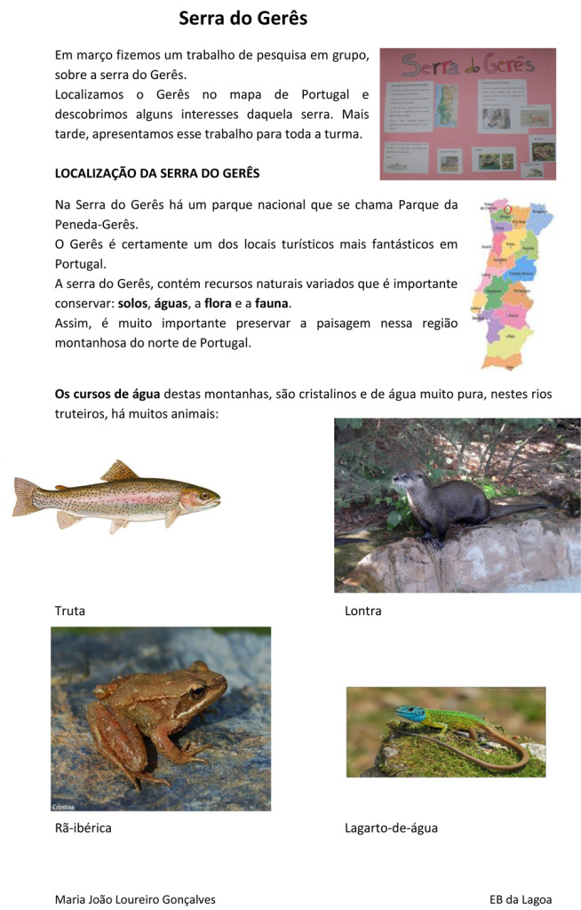 Serra do Geres fauna aquatica