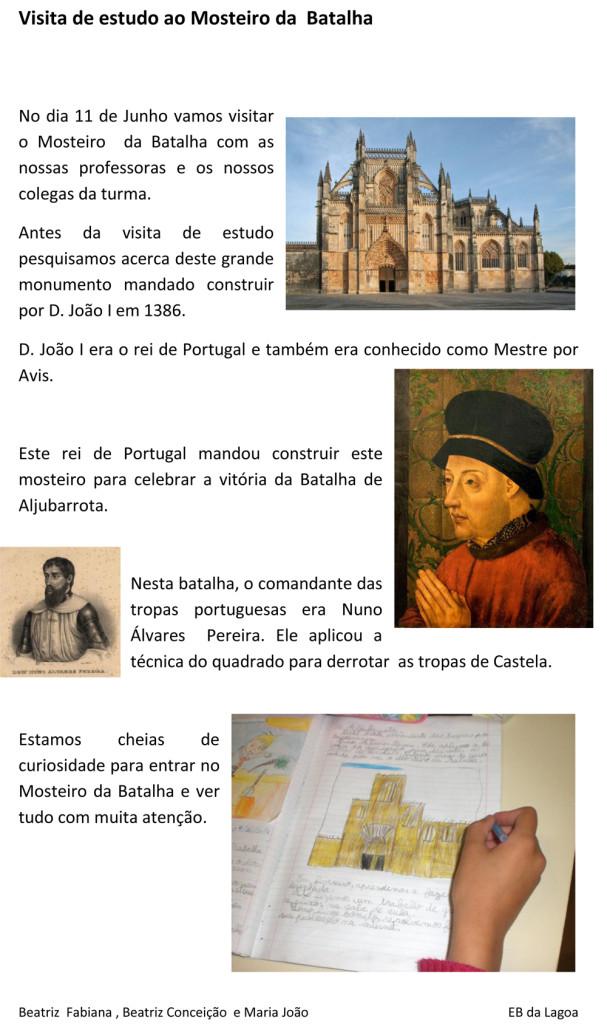 Visita de estudo ao Mosteiro da Batalha