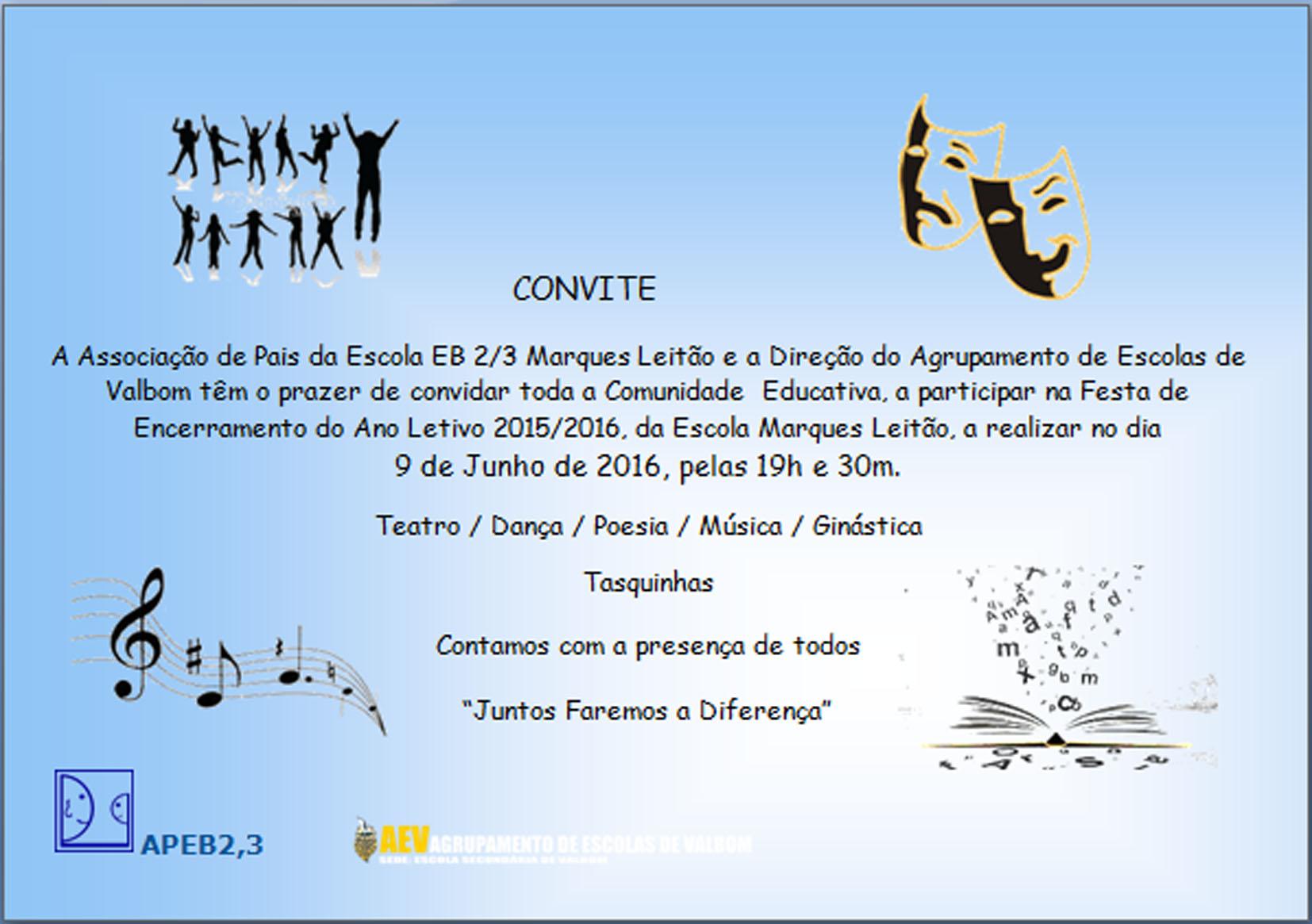 convite final festa